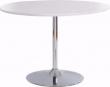 Terri Spisebord hvid Højglans med krom fod   - Hvidt spisebord med krom fod
