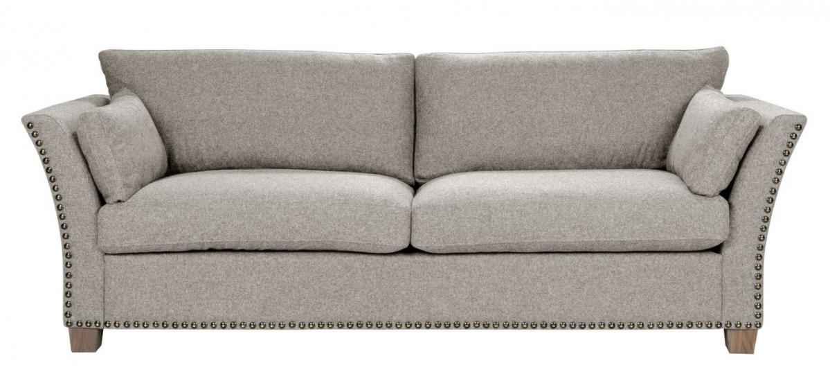 Milton 3-pers. Sofa - beige Uld m. nitter