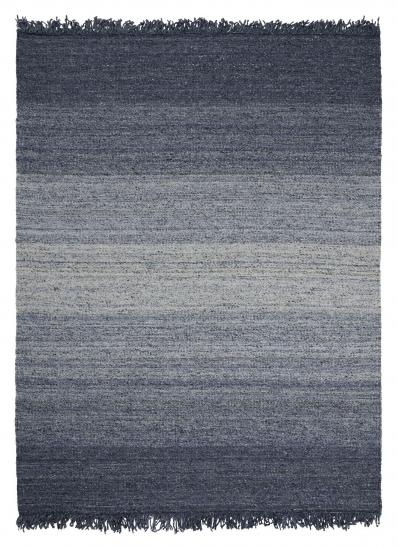 Linie Design Frei Uld tæppe, Blå, 140/200