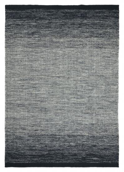 Linie Design Lule Uld løber, Sort, 80/250