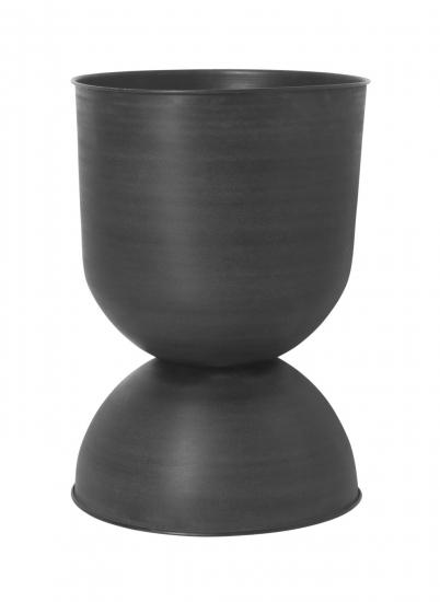 Smarte ressurser Ferm Living - Hourglass Krukke L - Sort/Mørk grå PU-02