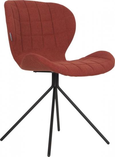 OMG Spisebordsstol - Orange - Polstret spisebordsstol i lækkert design og orange stof