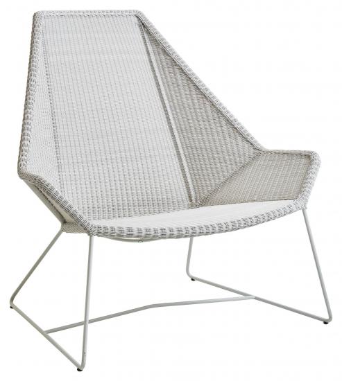 Cane line Breeze highback stol, Gråhvid