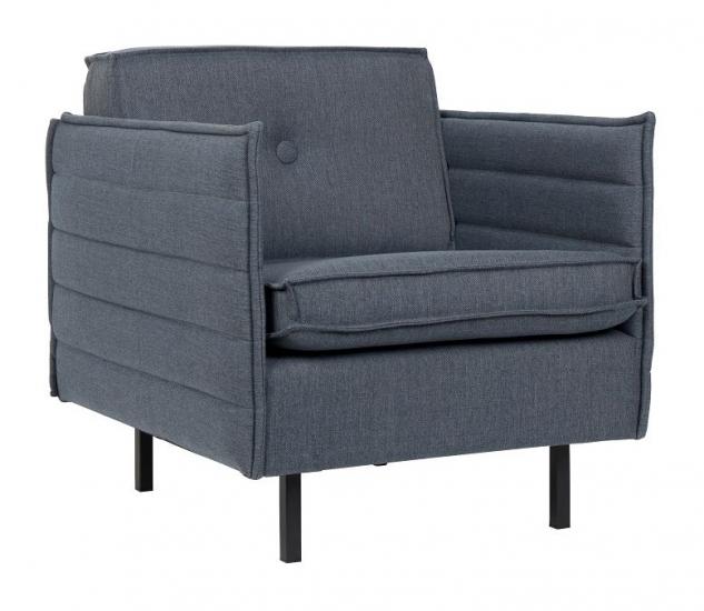 Zuiver - Jaey Loungestol - Blå stof - Komfortabel loungestol