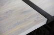 Rustic Spisebord 100x290 - hvidolieret eg og sort