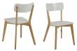 Clara Spisebordsstol i træ - Natur/hvid