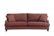 Lancaster 3-pers. sofa m/bue - Rød m. hjul