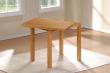 Columba Spisebord Hvid MDF, Gummitræ - 80x80