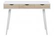 Piper Skrivebord - Hvid - Hvidt skrivebord med 3 skuffer