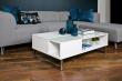 Rody Sofabord m/hejs 110x60 - Hvid højglans
