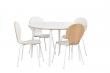 Fusion Spisebord rund, hvid, hvide ben, Ø115