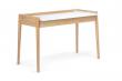 Woodman - Feldbach Skrivebord - Lys træ - Skrivebord m/hvid bordplade