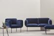WOUD - Nakki 2-pers. sofa - Blå Harald stof