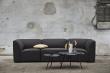 WOUD - Soround sofabord i sort eg, H44/Ø60