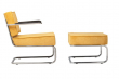 Zuiver Ridge Loungestol m/arm - Gul fløjl