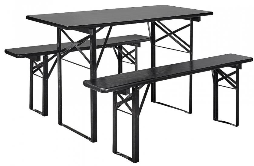 Nordal - Bord/bænkesæt - Sort  - Sort bord/bænkesæt