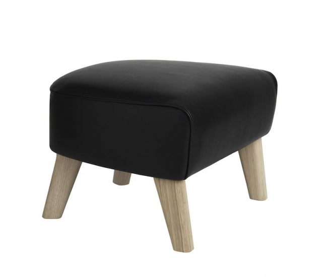 by Lassen - My Own Chair Fodskammel - Sort læder - Fodskammel med sort læder
