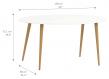 Delta Spisebord - Hvid - 160 cm