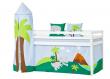 Hoppekids - Dinosaur Tårn Ø85 - Blå og grøn