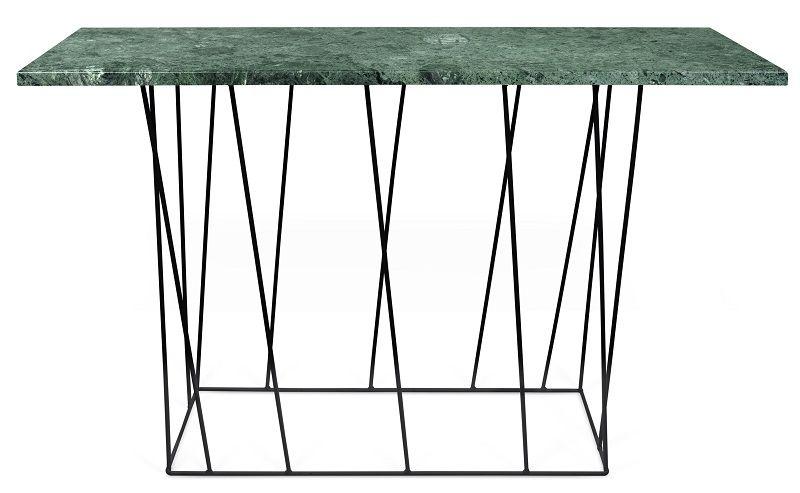 Temahome - Helix Konsolbord - Grøn m/sort stel