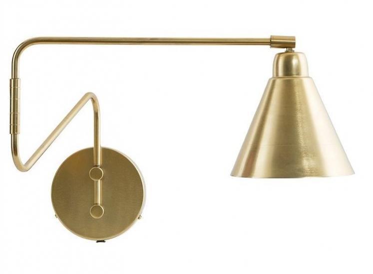 House Doctor Game Væglampe m. drej, Messing - Messing væglampe