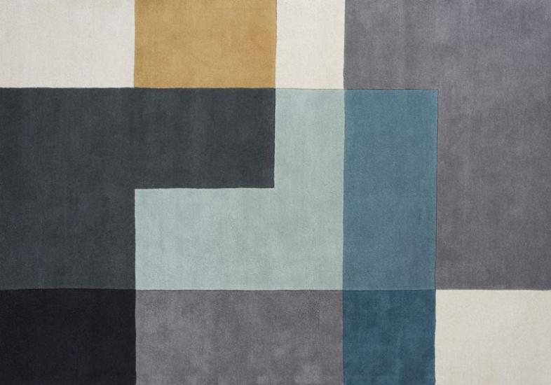 Linie Design Tetris Tæppe - Aqua - 170x240 - 170x240 cm