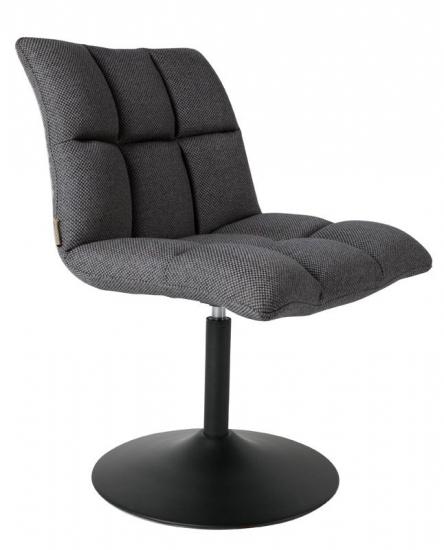 Dutchbone - Mini Spisebordsstol - Mørk Grå - Mørkegrå spisebordsstol