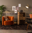 Dutchbone - Flower Loungestol - Orange