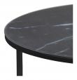 Filippa Sofabord - Sort marmorprint Ø80
