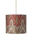 Ebb&Flow - Lampeskærm, brocade, grøn/Guld, Ø35, loftlampe