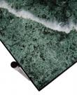 HANDVÄRK Spisebord 185x94 - Grøn Marmor, sort stel
