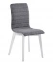 Trend Spisebordsstol - Mørkegrå - Hvid spisebordsstol med mørkegråt sæde