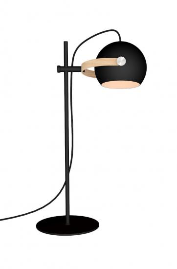 Halo Design D.C bordlampe Ø18 Sort m/egetræ