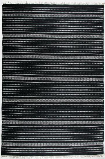 Denver Kelimtæppe - Sort - 160x230