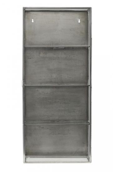 House Doctor Glasskab i rustfri stål H80 - Højt glasskab i stål