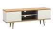 Alexandra TV-bord - Hvid og ege-look - TV-bord i skandinavisk design