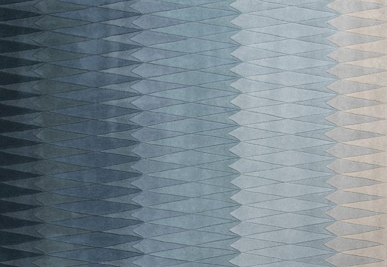 Linie Design Acacia Tæppe - Blå - 140x200 - 140x200 cm