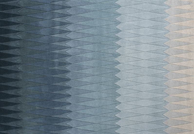 Linie Design Acacia Tæppe - Blå - 200x300 - 200x300 cm