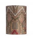 Ebb&Flow - Lampeskærm, brocade, grøn/Guld, Ø30, bordlampe