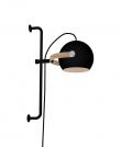 Halo Design D.C væglampe Ø18 m/arm Sort m/egetræ