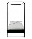 Bunk Sengeramme 200x90 - Sort metal