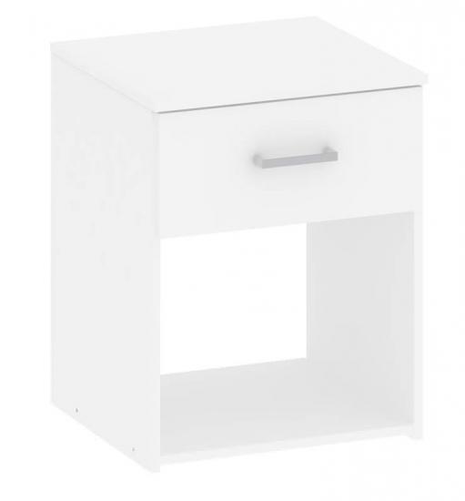 Space Sengebord - Hvid - Hvid senge bord med skuffe