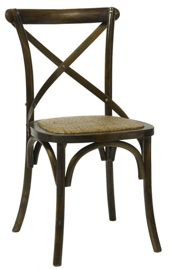 Nordal - Spisebordsstol X - Natur med fletsæde - Klassisk spisebordsstol