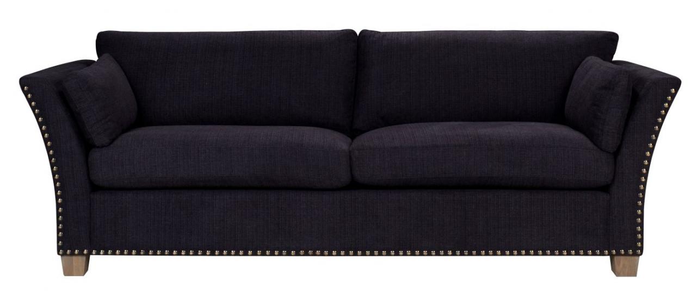 Milton 3-pers. Sofa - mørk grå m. nitter