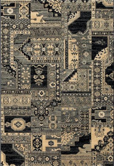 Orient Multi - Sort  - Sort tæppe med mønster - 240x330 cm