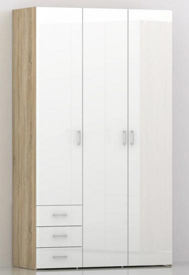Space Garderobeskab - Garderobeskab med 3 låger