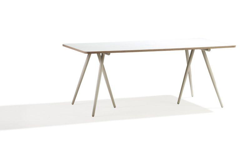 Cane-line - Turn 180x90 Spisebord - Hvid - vendbar bordplade brun/hvid