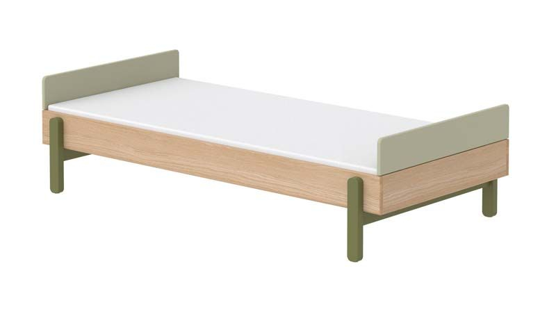 FLEXA Popsicle Børneseng m. headboard - Kiwi, 200x90