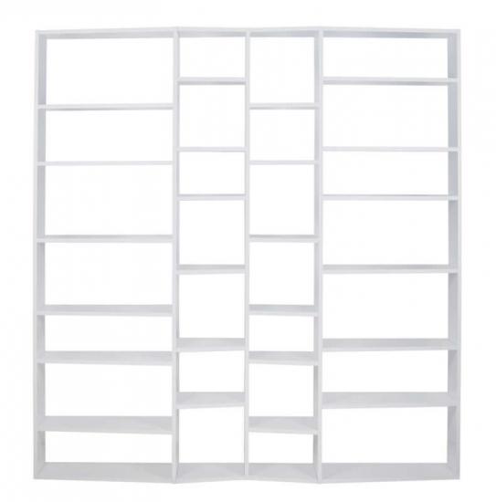 Temahome Valsa Reol - Hvid 28 rum - Stor bokreol med store og små rom
