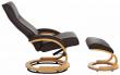 Paprika Hvilestol med skammel Mørkebrunt Læder